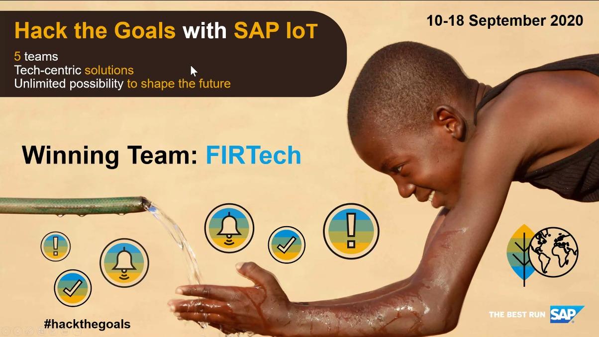 SAP IoT Hackathon - Africa 2020: Winning Team FIRtech